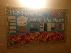 Bulletin Board RA Resident Advisor Resident Assistant Spring Closing Board It's time to leave the nest! Make your residents into a garden!