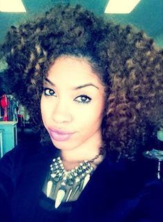 Twist out natural hairstyle
