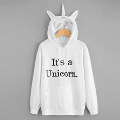 """I AM A UNICORN"" Statement Printed Sweat Shirt Sweater Hoodie"