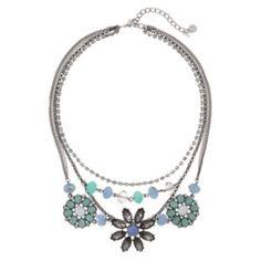Simply Vera Vera Wang Bead Flower Multistrand Necklace