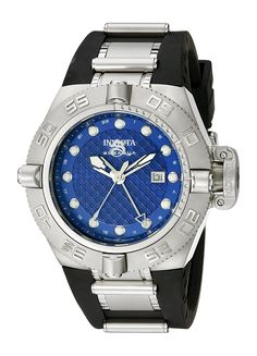 Invicta Men's 1155 Subaqua Noma IV GMT Blue Dial Black Polyurethane Watch * Want to know more, click on the image. (This is an Amazon Affiliate link)