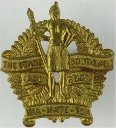 Otago And Southland Regiment, New Zealand Infantry Brass Other Ranks' metal cap badge Commonwealth, Badges, New Zealand, Army, Military, Cap, Statue, Motto, Empire