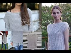 How to knit women's short sleeve sweater - video tutorial with detailed instructions - YouTube