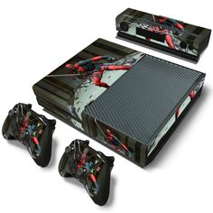 Faceplates, Decals & Stickers Deadpool Xbox One S 17 Sticker Console Decal Xbox One Controller Vinyl Skin