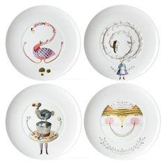 Vista Alegre - Tea With Alice Dessert Plate Set 4pce | Peter's of Kensington