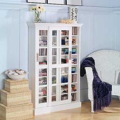 Southern Enterprises Sliding Door Media Cabinet Bookcase - White - Give your fam. Southern Enterprises Sliding Door Media Cabinet Bookcase – White – Give your family room additi Dvd Storage, Media Storage, Storage Ideas, Storage Solutions, Office Storage, Storage Organization, Punch Storage, Storage Units, Cabinet Storage