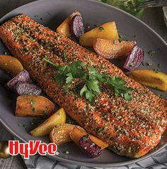 Need a weeknight meal that's not like anything else you've tried? Pesto Roasted Salmon with Roasted Beets is a huge blast of flavor. Perfect for busy nights!