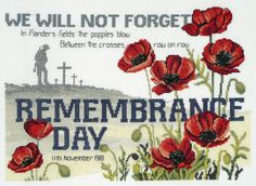 remembrance day cross stitch - Google Search