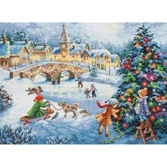 DIMENSIONS-The Gold Collection: Counted Cross Stitch Kit. The Gold Collection kits are wonderfully detailed with full and half cross stitches. This package contains an 16-count light blue Aida, presor