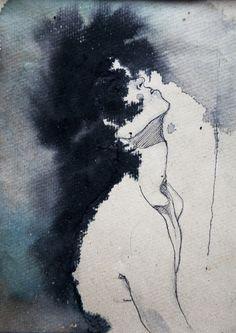 Kamilla Lucarelli. (Ink & watercolour, 2012).