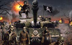 Heavy metal band Dark Illustration 1397