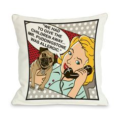 18 in. Had to Give the Kids Away Framed Throw Pillow | Find it at the Foundary
