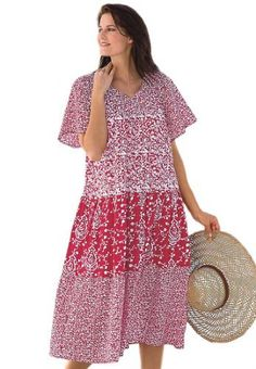 7d6e2b10683 Only Necessities Plus Size Tiered Print Lounger Only Necessities.  34.99  Night Gown