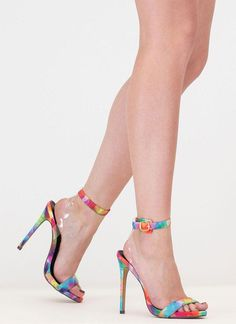 0e61cbbed58c Illusion Rainbow Ankle Strap Heels RAINBOW - GoJane.com  Stilettoheels