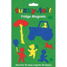 Fuzzy Felt Fridge Magnets