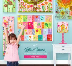 Floral Wall Art for Kids' Rooms by Oopsy Daisy, Fine Art for Kids