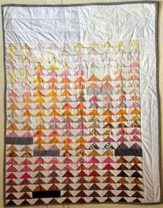 Contemporary Flying Geese Baby Quilt by StarbirdHammerThread