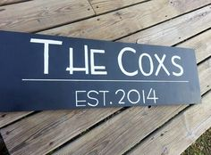 Hey, I found this really awesome Etsy listing at https://www.etsy.com/listing/183530048/personalized-family-name-sign