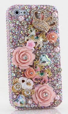 Fairytale Princess Design bling case made for iPhone 5 / 5S. we can design this case for iPhone 6s plus, Samsung Galaxy s5 and Note 5 and other devices. Handmade luxurious phone cases, personalized bling cases, crystals 3D phone cases accessories.  http://luxaddiction.com/collections/3d-designs/products/fairytale-princess-design-style-468