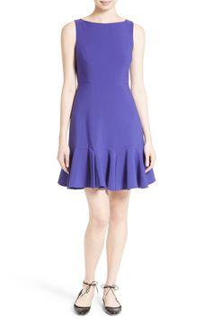 Main Image - kate spade new york crepe flounce hem fit & flare dress