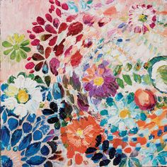 Super beautiful pieces by oil painter Starla Michelle . Love her use of color and form.