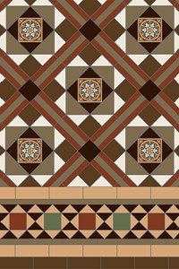 Specific breakdowns of our patterns showing the number of tiles required per square metre, from the simple checkerboard to the most complex design made up from many different shapes and colours. Carpet Stair Treads, Stair Rugs, Carpet Stairs, Removing Carpet From Stairs, Stairs Colours, Painted Staircases, Alternative Flooring, Stair Makeover, Hallway Designs