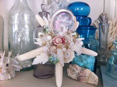 Sea Star Finger Starfish Shell Pearl Beach Chic by SownComfort, $32.95