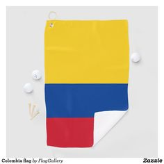 Shop Colombia flag golf towel created by FlagGallery. Colombian Flag, Colombia South America, Golf Towels, Succulents Diy, Invitation Cards, Art For Kids, Wedding Gifts, Art Pieces, Monogram