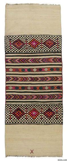 Vintage Bakhtiari Kilim Rug