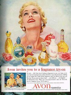 Avon fragrance advertisement, 1957.