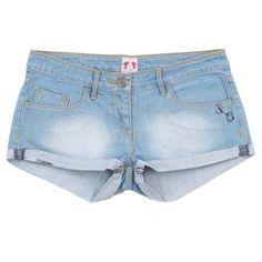 Sass & Bide Edens Denim Shorts in Sandstone ($163) ❤ liked on Polyvore