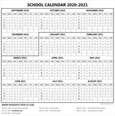 Academic calendar with federal, bank, public, national holiday list. Spring Bank Holiday, August Bank Holiday, Holiday Time, Academic Calendar, 2021 Calendar, School Calendar, National Holiday List, Class Timetable, School Template