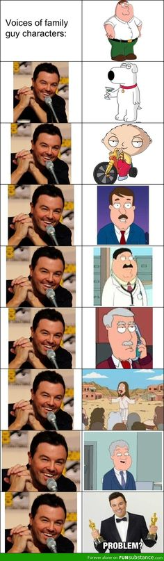 Family Guy voices Cuz Seth MacFarlane is just that awesome