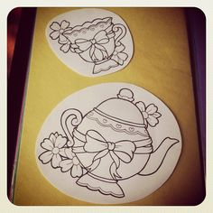 For my teacup tattoo. Maybe a little more embellishment on these though.