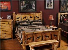 1000 Images About Rustic Cabin Bed Frames Bedding On