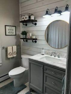 gorgeous farmhouse bathroom decor ideas with any home design . gorgeous farmhouse bathroom decor ideas fit any home design Diy Bathroom Decor, Bathroom Styling, Bathroom Interior, Budget Bathroom, Design Bathroom, Bathroom Furniture, Bathroom Organization, Small Bathroom Ideas On A Budget, Decorating Bathrooms