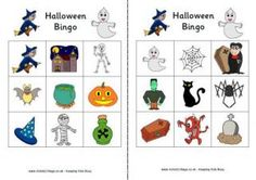 Halloween Bingo and other printable Halloween games