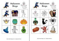 Halloween Bingo and other printable Halloween games