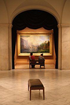 """""""Among the Sierra Nevada Mountains, California"""" by Albert Bierstadt"""
