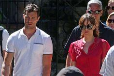 Jamie Dornan, Dakota Johnson Film 'Fifty Shades Freed' Honeymoon Scenes 2016