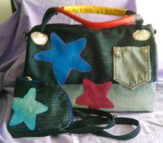 LOS DETALLES DE CONXI: Parte posterior del bolso y monedero tejano