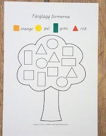 lek med geometriska former Preschool Learning Activities, Toddler Activities, Preschool Activities, Preschool Colors, Kids Math Worksheets, Math For Kids, Kids Education, Blogg, Barn