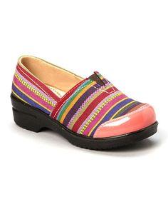 Loving this Pink Stripe Danny Clog on #zulily! #zulilyfinds