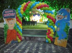 8 Best Chota Bheem Birthday Theme Party Images Birthday Theme