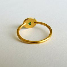 Green Agate Ring / Artemer