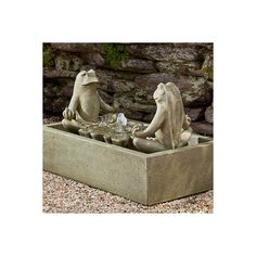 Zen Frog Fountain ($919) ❤ liked on Polyvore featuring home, outdoors, outdoor decor, fountains & birdbaths, outdoor enhancements, outdoor bird bath, zen garden decor, outside garden decor, frog garden decor and outdoor patio decor