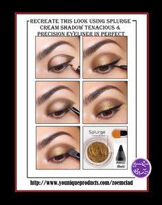 recreate this look using splurge cream shadow colour tenacious and precision…