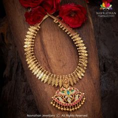 Antique Jewellery Designs, Gold Earrings Designs, Gold Jewellery Design, Necklace Designs, Gold Temple Jewellery, Gold Jewelry, Indian Jewelry Sets, Bridal Jewelry, Ruby Necklace
