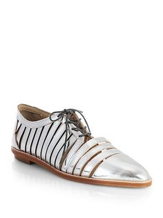 Loeffler Randall - Opal Mirrored Leather Oxfords - Saks.com