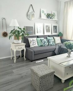 24 delicate living room design ideas on minimalist homes 01 Mint Living Rooms, Living Room Turquoise, Living Room Green, New Living Room, Living Room Interior, Living Room Decor, Small Living, Grey Couches Living Room, Grey Living Room With Color